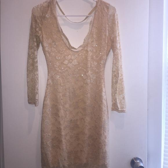 Dresses & Skirts - Cream lace dress- size M